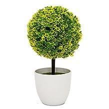 IVYRISE Artificial Plants Faux Potted Trees Decor Bonsai Flowers Topiary Plant w/ White Planter Pots