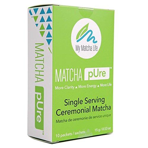 Matcha Single Packets To Go - 100% Ceremonial Grade Matcha Green Tea - Great Taste Pure Japanese Matcha (10 pk)