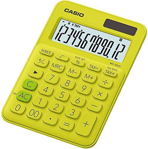 Casio MS-20UC-BK-S-EC Calculadora, Color Negro