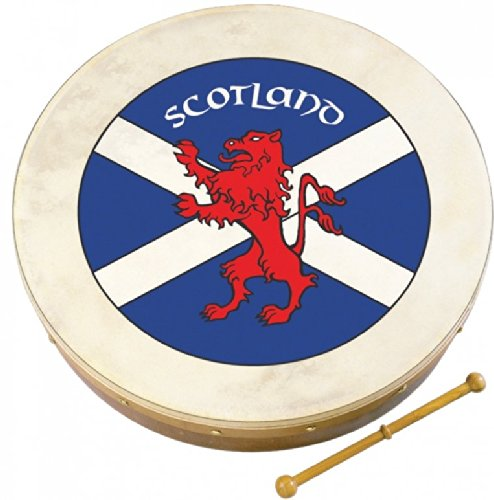 Waltons 8″ Impressive Scottish FLAG Crest Bodhran