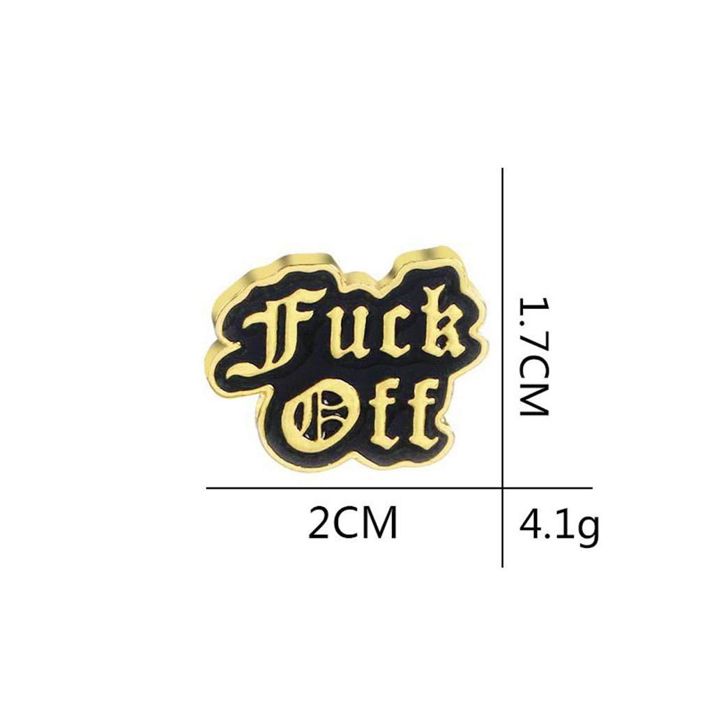 Ogquaton Premium Mode Unisexe Fuck Off /émail Badge Broche Punk Bijoux Echarpe Veste Manteau Accessoire Argent