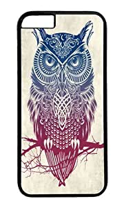 Apple Iphone 6 Case,WENJORS Cool Evening Warrior Owl Hard Case Protective Shell Cell Phone Cover For Apple Iphone 6 (4.7 Inch) - PC Black