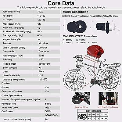 Bafang 8fun - Motor eléctrico para acoplar a bicicleta, tracción ...