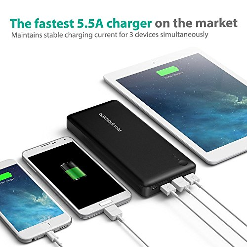 Portable Charger RAVPower 26800mAh Total 5.5A O...
