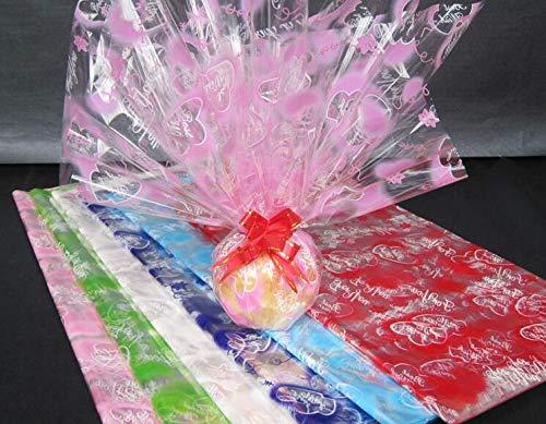 Lot Lot Print Cellophane Plastic Paper Flower Wrapping Size 44cm 50pcs Lot - Ion -
