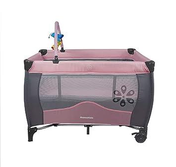 Cuna portátil de viaje para bebé, centro de juegos y actividades para la cama y