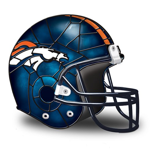 NFL Denver Broncos Accent Helmet Lamp by The Bradford Exchange