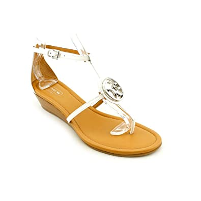 b748bdabecb Coach Vipor Demi Wedge Chalk Sandal (8.5)