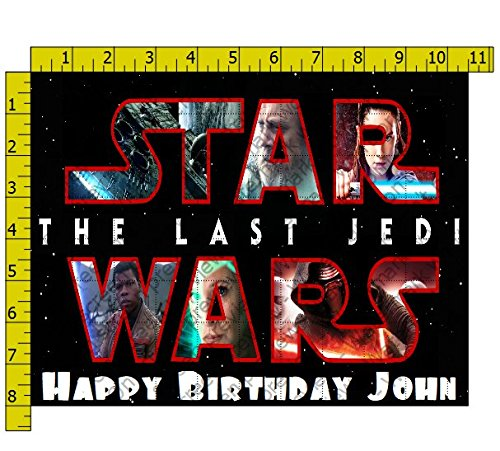 Star Wars Last Jedi Collage Edible Frosting Image 1/4 sheet Cake Topper