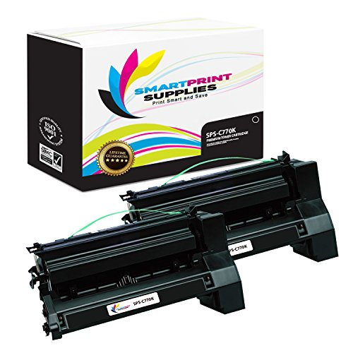 Smart Print Supplies Compatible C770 C7702KH C780H2KG Black Extra High Yield Toner Cartridge Replacement for Lexmark C770 C772 C780 C782 X780 X782 Printers (10,000 Pages) - 2 - Print Cartridge Black C772