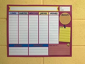 Planning, Mural notas de pared,Planificador semanal de ...