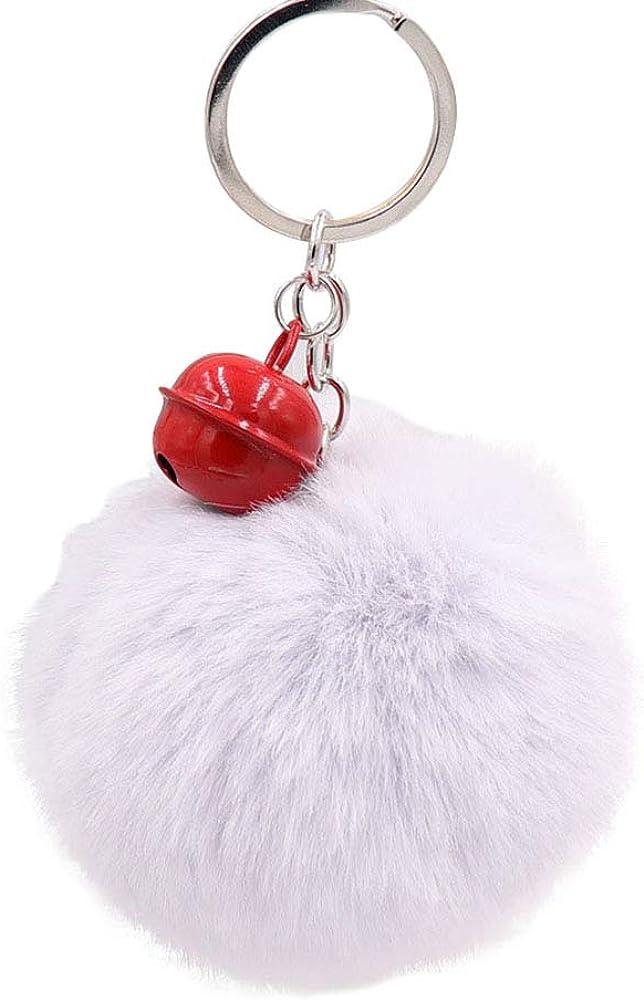 Amazon.com: Llavero con pompón de peluche, accesorio ...