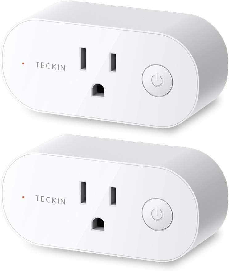 Smart Plug Wifi Outlet 15A Compatible With Alexa,Google Home and IFTTT, Teckin Mini Smart Socket with Schedule and Timer Function, No Hub Required,2 ...