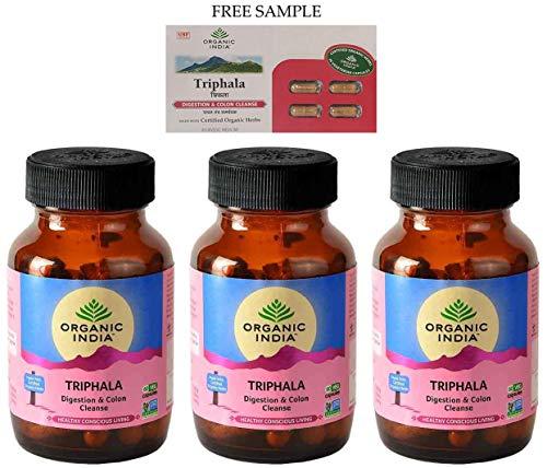 Price comparison product image Organic India Triphala - 60 Veg Capsules - Pack Of 3