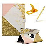 Wallet Folio Case for All-New Kindle E-Reader 6 inch 2016,Bookstyle Flip Pu Leather Case for All-New Kindle E-Reader 6 inch 2016,Herzzer Stylish Classic [White Gold Marble Print] Stand Magnetic Smart Leather Case with Soft Inner for All-New Kindle E-Reader 6 inch 2016
