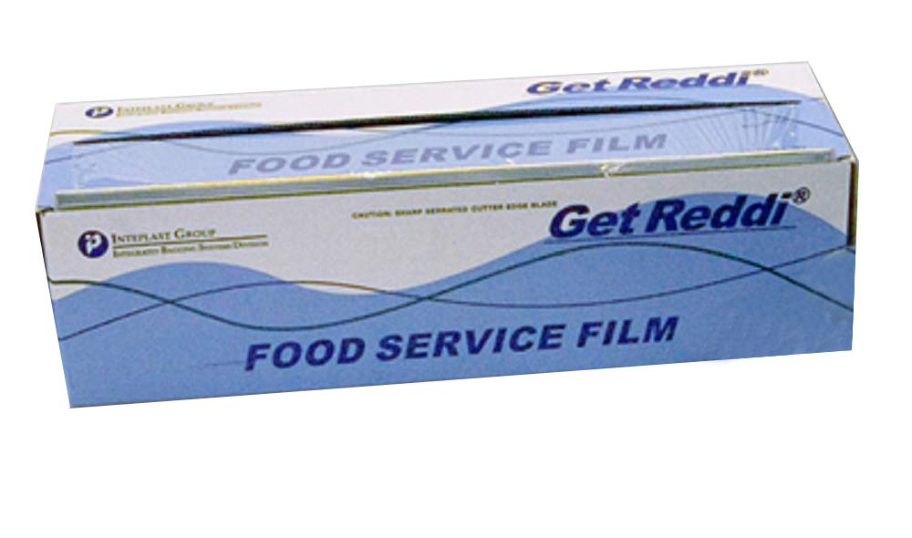 4 Rolls Food Service Film 24'' x 2000' with Cutter Box. PVC Food Wrap Film. Food Service Grade Film for Bakery, Deli, Restaurant, Kitchen. Commercial Grade Film Wrap. Cutter Dispenser. FDA Approved. by APQ Supply