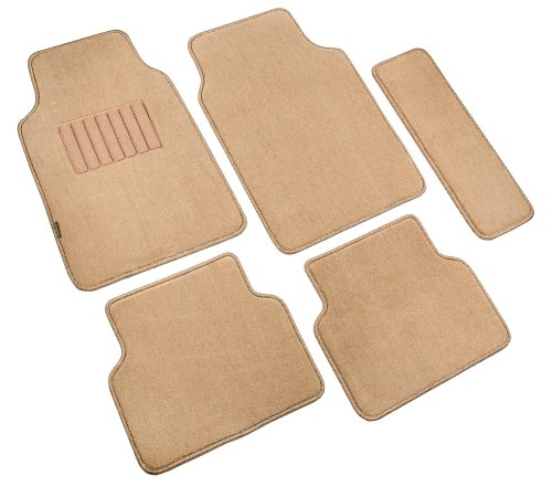 Highland 4480500 5th Avenue Tan Ultimate Luxury Carpet Floor Mat - 5 Piece (Luxury Compass)
