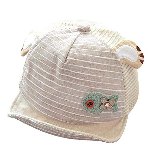 EEFRVDFFDE Cartoon Cute Mesh Baseball Cap for Chirldren Boys Girls Baby Summer Soft Sun Hat Creamy-White