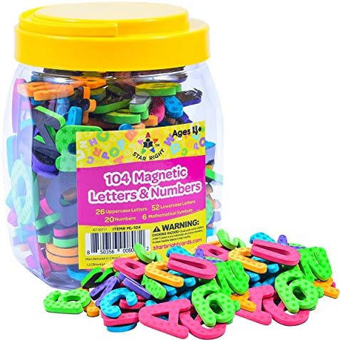 Star Right Magnetic Letters Numbers
