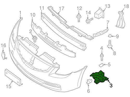 Genuine Nissan 62257-ZX10A Bumper Panel Bracket