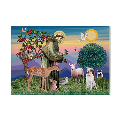 CafePress St Francis/Pitbull Rectangle Magnet Rectangle Magnet, 2