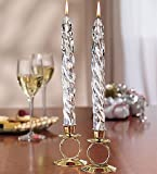 Taper Candle Holders with Brass/gold Finish on Metal 2pcs
