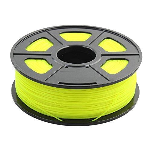 DealMux 1.75mm ABS Noctilucent Glow in Dark 3D Printer Filament Luminous Yellow Sunlu Authorized