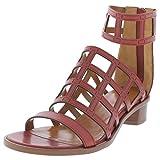 Aquatalia Womens Rianna Open Toe Caged Heels Red 7 Medium (B,M)
