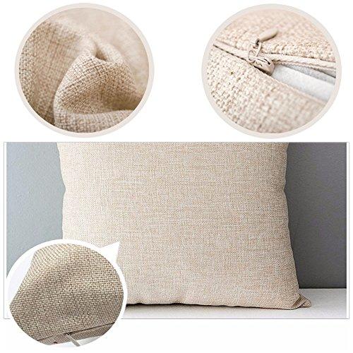 Qinqingo Throw Pillow Covers Sea Theme Marine Animal Pattern Cotton Linen Pillow Covers Home Decorative Sofa Summer Beach Throw Pillowcase Cushion Covers Coastal Theme 18''x 18'' Set of 4 (BOG02) by Qinqingo (Image #6)