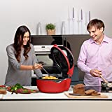 KLARSTEIN VitAir Turbo Hot Air Fryer • Reduced-Fat Frying, Baking, Grilling and Roasting • 9.6 qt Cooking Chamber • Rotisserie • 1400 Watts Halogen • Up to 450 F • Red