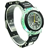 Kids' New Flashing Light up Color Changing LED Dial Analog Watch-Black
