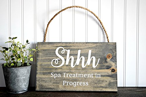 Shhh Spa Treatment In Progress Wood Sign Spa Sign Treatment Sign Massage Sign Therapy SIgn