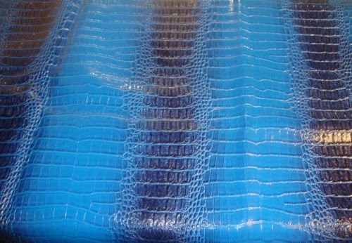 upholstery Crocodile Nile Faux vinyl fake Leather Contract Royal Navy embossed]()