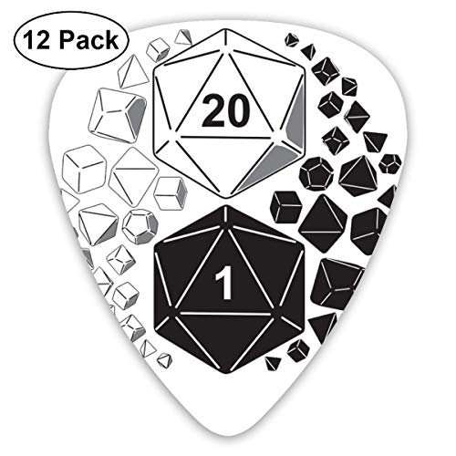 Dungeons and Dragons Yin Yang Guitar Picks Leather-1 Pack Guitar Picks Holder Case with 6 Guitar Picks Thin/Medium/Heavy]()