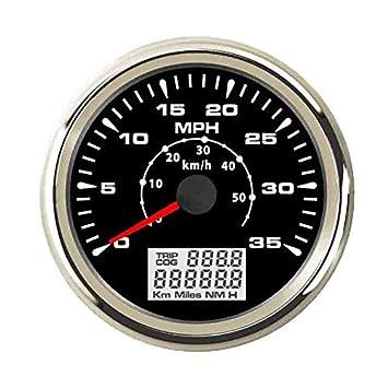 ELING - Velocímetro GPS universal para coche (0 - 35 mph, 0 - 55 km/h, 9 - 32 V, 85 mm): Amazon.es: Coche y moto