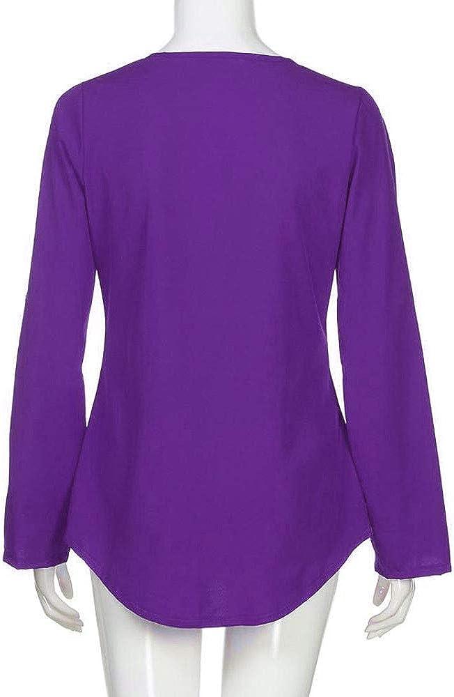 VEMOW Camisola Cremallera sin Mangas de Las Mujeres Chaleco Ocasional Top Blusa de Las se/ñoras del Verano Flojo Camisetas