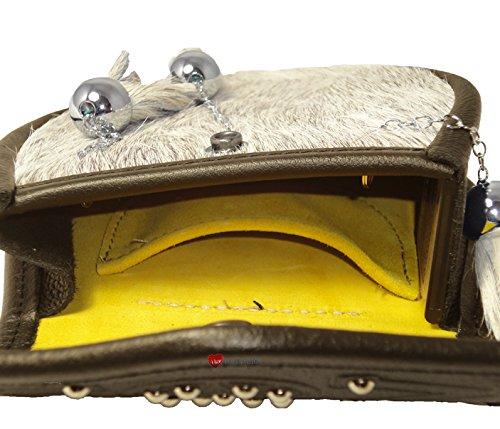 Semi Dress Sporran Framed Studded Targe Flap Brown