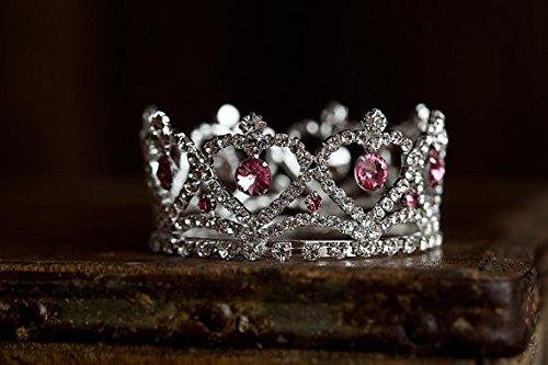 Austrian Costumes Dolls - Claira Mini Pink Rhinestone Crown, Newborn