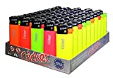 Cricket Disposable Lighters, Mini, Fluo, 50 Pack
