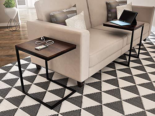 Z-Line Designs Tech C End Table, Black