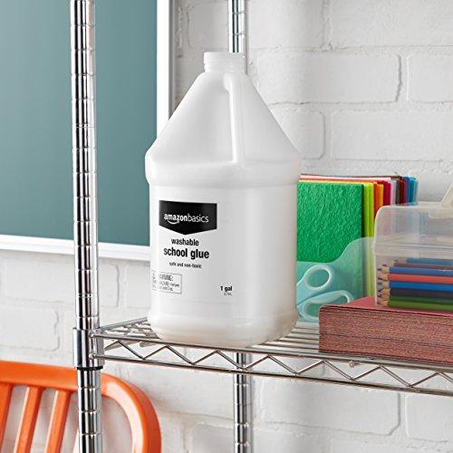 AmazonBasics All Purpose Washable Liquid Glue, 1 Gallon Bottle - Great for Making Slime Photo #4