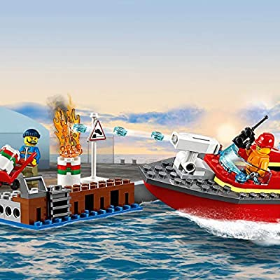 60213 LEGO City Dock Side Fire: Toys & Games