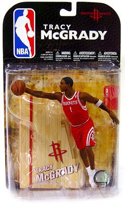 McFarlane Toys NBA Sports Picks Series 16 (2009 Wave 1) Action Figure Tracy McGrady (Houston Rockets) Red Jersey (Tracy Rockets)
