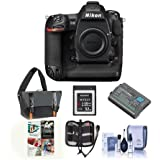Nikon D5 FX-Format DSLR Camera Body - Bundle With Camera Bag, EN-EL18A Battery, 32GB Memory Card, Cleaning Kit, Memory Wallet, PC Softawre Package