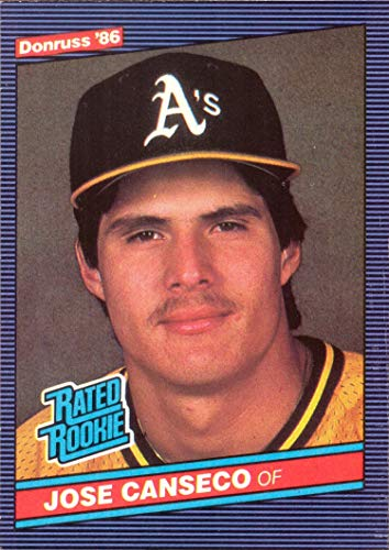 1986 Jose Canseco Rookie Card - 1986 Donruss Baseball #39 Jose Canseco Rookie Card