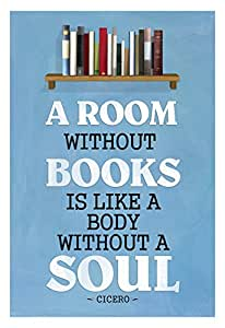 Poster Revolution a Room without Books Cicero Quote Poster
