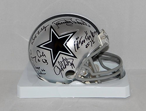 Doomsday Defense Autographed Dallas Cowboys Mini Helmet W/ 6 Sigs- JSA W Auth (Autographed Dallas Cowboys Authentic Helmet)