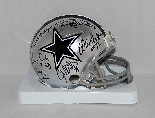 Doomsday Defense Autographed Dallas Cowboys Mini Helmet W/ 6 Sigs- JSA W Auth (Autographed Dallas Cowboys Authentic Helmet)