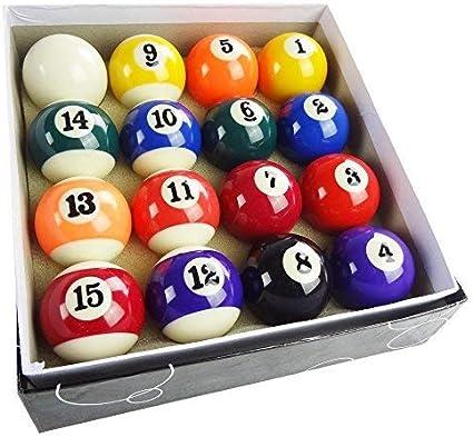 Bolas de billar de la piscina Juego completo Bolas de rayas de tamaño pequeño de