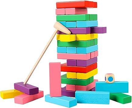 Bloques de construcción Jengdile, 48 piezas de construcción Jenga, bloques de construcción en capas, juguetes de inteligencia educativa para niños adultos: Amazon.es: Bricolaje y herramientas